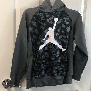 Gray, Black & White Jordan Hoodie